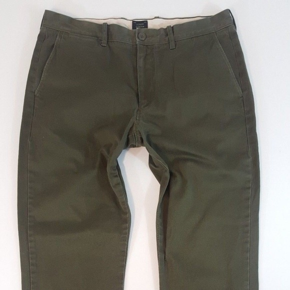 J. Crew Other - J. Crew Stretch Pants 770 Olive Green 34x34